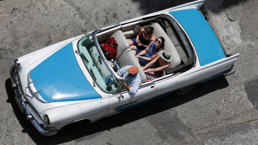Iconic: Cuba's classic American cars are a major tourist attraction.