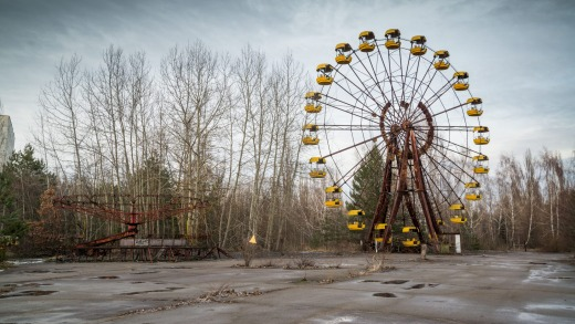 The abandoned amusement park in Pripyat.