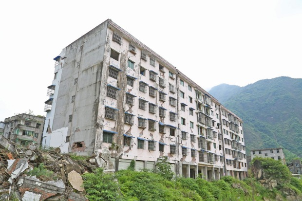 BEICHUAN, CHINA. With only one-fifth of its buildings left standing after the Great Sichuan Earthquake of 2008, most in ...