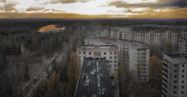 PRIPYAT, UKRAINE. Pripyat was populated for just 16 years before an explosion in the Chernobyl nuclear reactor, barely a ...