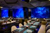Mr Fisher, the underwater restaurant which is surrounded by massive fish tanks full of tropical fish – in water ...