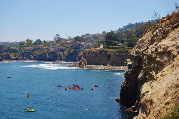 San Diego, CA: The rugged coastline near La Jolla, San Diego, was once the domain of smugglers and bootleggers, who set ...