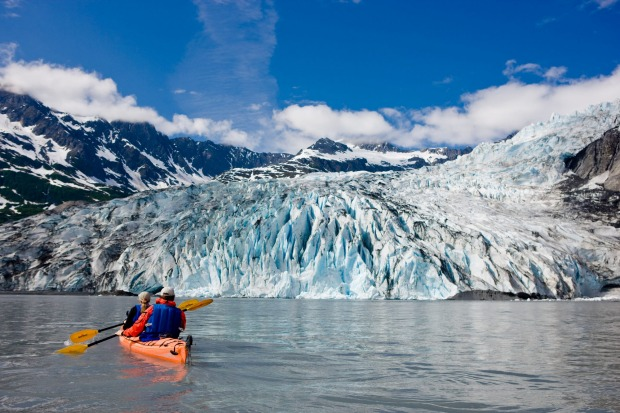 Glacier Bay, Alaska: Whether on a guided day tour, or as part of a backcountry camping trip, kayaking in Glacier Bay ...