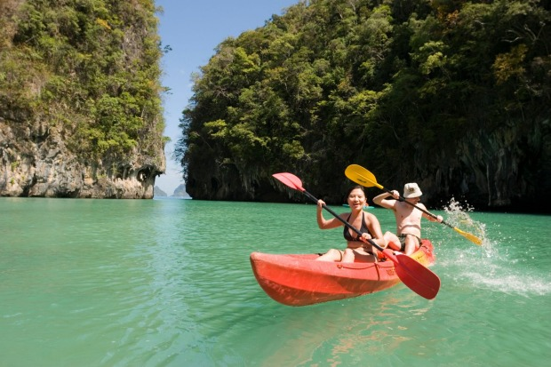 Phang Nga Bay, Phuket: For 35 years, John 'Caveman' Gray has been leading sea kayak tours through beautiful Phang Nga ...