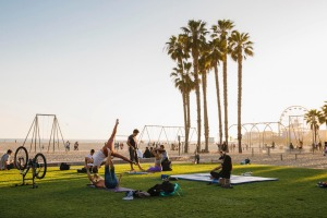 Workout or just watch at Muscle Beach, Santa Monica.