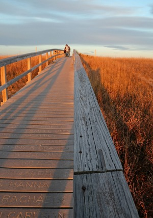 Sandwich Boardwalk in the late afternoon in November.