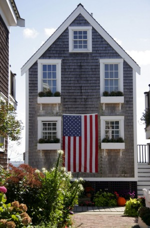 American house, Provincetown, Cape Cod.