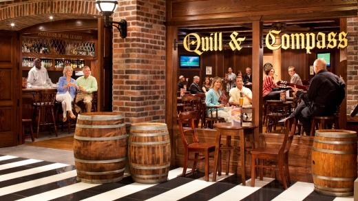 The Quill & Compass pub onboard  Radiance of the Seas.
