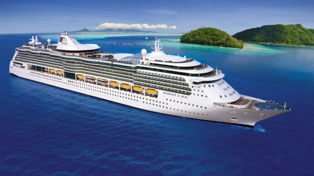 The 2500-passenger Radiance of the Seas, under charter, hosted Cruisin' Country.