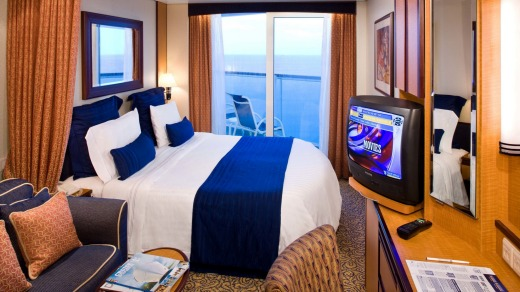 When the line dancing proves too much, relax in a deluxe ocean view stateroom.