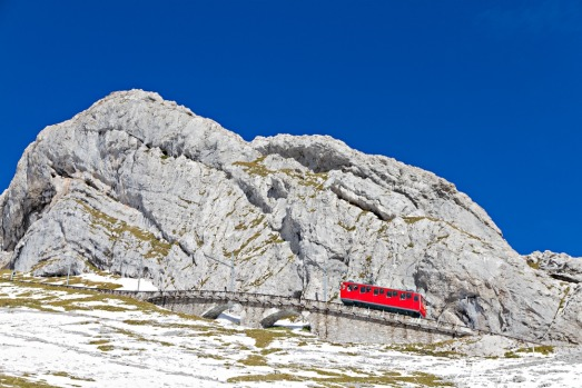 MT PILATUS RAILWAY, SWITZERLAND: This 1889 engineering feat near Lucerne – which still uses the original tracks – ...