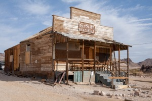 Abandoned shop in Ghost town Rhyolite, Nevada.