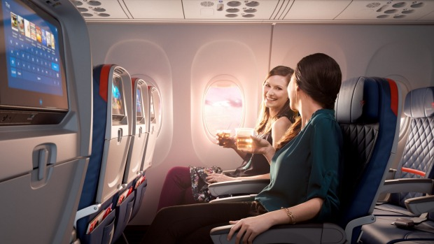 Seats in Delta Comfort+ feature more legroom and recline further than standard economy seats.