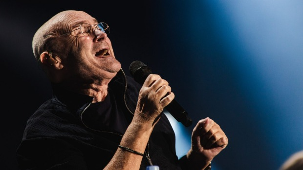 Phil Collins performs in Melbourne during his 2019 tour of Australia.