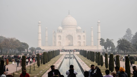 More than 30,000 people visit the Taj Mahal each day.