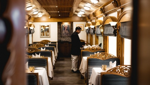 The Deccan Odyssey is inspired by the imperial carriages used by the Maharajahs.