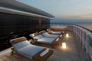 Artist's impression of the Regent Suite Balcony on Seven Seas Splendor.