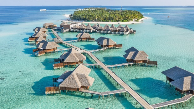 The award-winning five-star Conrad Maldives Rangali Island resort.