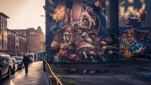 Street art in Glasgow is typical of the city's brash, creative vibe.
