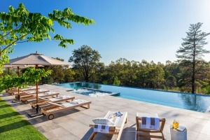 Poolside at Spicers Guesthouse, Pokolbin