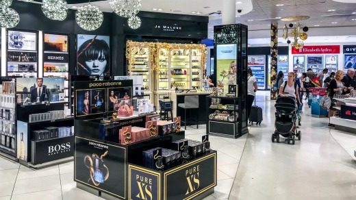 The Jo Malone duty-free store in Sydney International Airport.