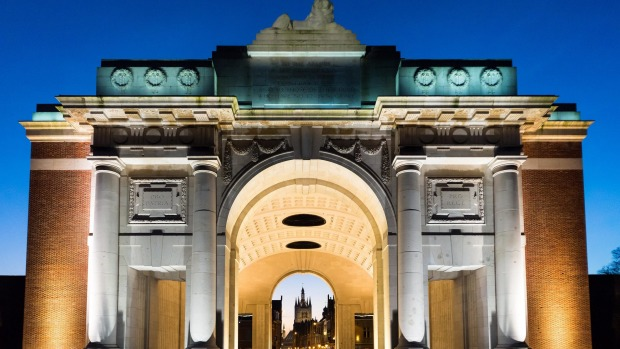 Menin Gate's Memorial to the Missing in Ypres.