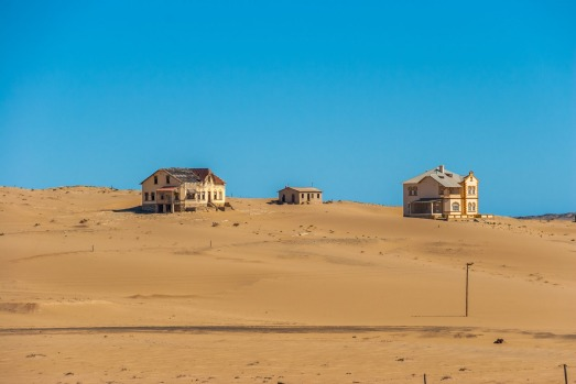 KOLMANSKOP, NAMIBIA. The discovery of diamonds strewn across the ground saw this southern Namibian town boom in the ...