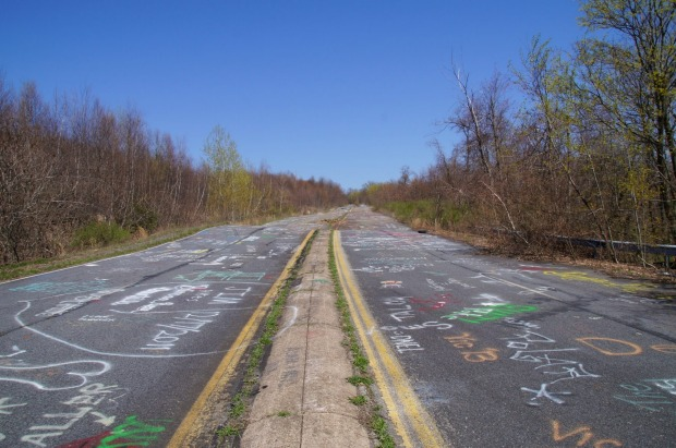 CENTRALIA, PENNSYLVANIA, USA In 1962, the coal seam that lies below the town of Centralia started burning, and it's been ...