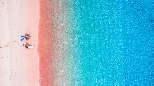 Pink Beach promises an array of vibrant colours.