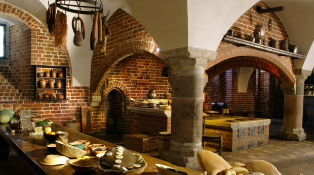 Former kitchens within Malbork Castle, Poland.