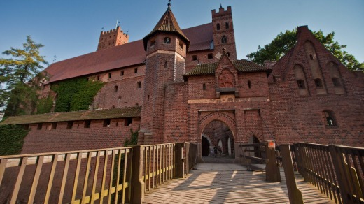 Malbork Castle is the world's largest brick castle.