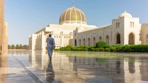 Muscat's Grand Mosque attracts 20,000 people for Friday night prayers.
