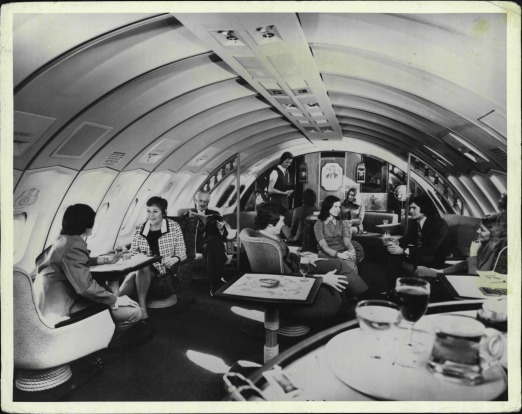 The first Qantas 747 featured the the Captain Cook Lounge - the largest lounge to be found on any jumbo jet. It had room ...