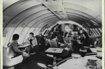 FIFTY YEARS OF THE JUMBO JET: The first Qantas 747 featured the the Captain Cook Lounge - the largest lounge to be found ...