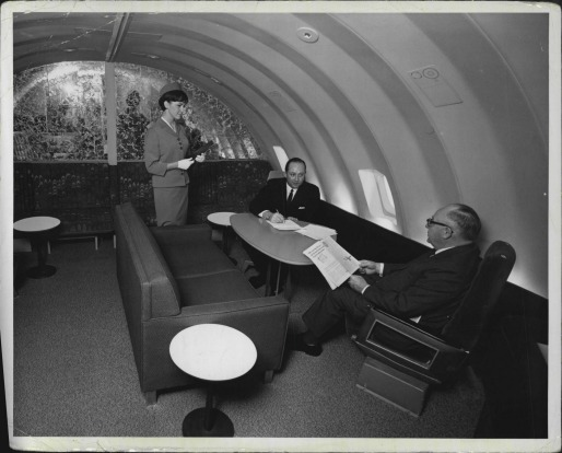 Pan Am's 747 'Superjet Clipper' had two spacious 'staterooms' on the upper deck. The state-rooms, resembling those on a ...