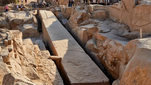 The 3500-year-old Unfinished Obelisk in, Aswan , Egypt.