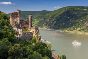 Katz Castle on the Rhine River.