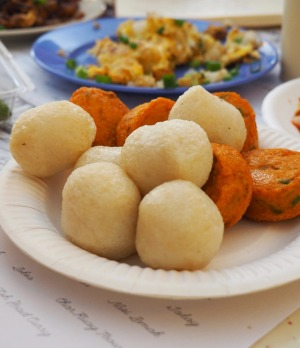 Fish balls and fried fish cake at Tiong Bahru Food Centre.