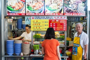 A food stall inside the Tiong Bahru Market.