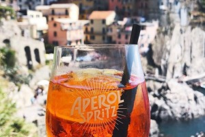 Picturesque views with a drink in hand make for a quintessential Italian aperitivo experience.