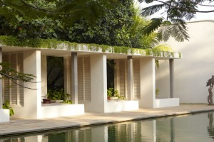 The hotel's shaded cabanas are a perfect place to while away an afternoon.