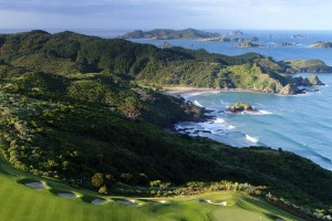 The spectacular golf course at The Lodge at Kauri Cliffs.