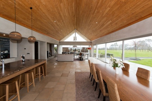 dining-lounge - takatu lodge SatFeb23Six - SIX OF THE BEST NZ North Island Lodges - Brian Johnston Image supplied via ...