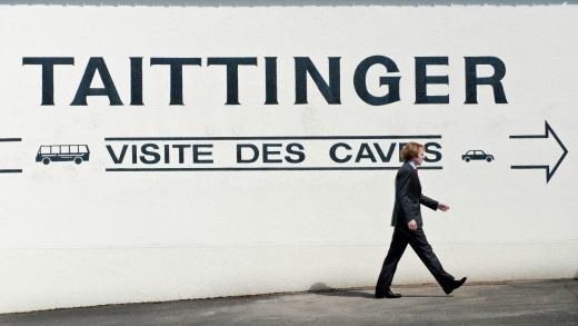 Taittinger's four kilometres of caves have millions of bottles of champagne maturing in them.