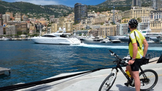 Monaco by lunchtime.