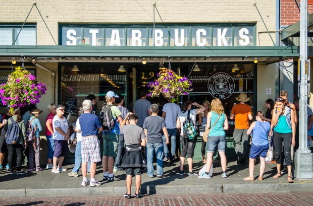 The Original Starbucks, Seattle: The globe-swallowing Starbucks coffee chain kicked off in Seattle in 1971, and 'the ...