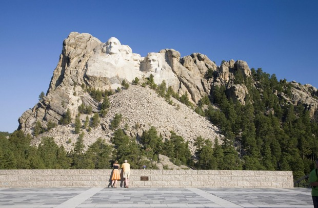 Mount Rushmore: They may be around 20 metres high, but once there, they just look kinda small and insignificant.