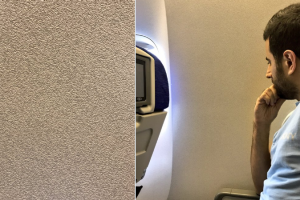 Not what you paid for: The windowless window seat.