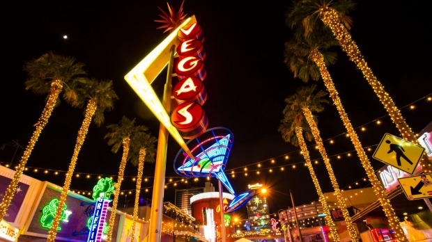 Vintage neons in the Fremont East area of Downtown Las Vegas.
