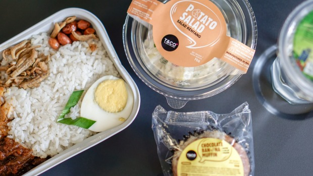 A nasi lemak meal on board AirAsia. But would you get one to take away?